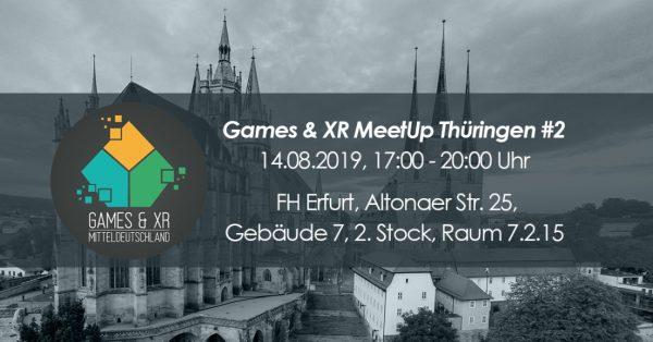 Teaserbild Games & XR MeetUp Erfurt