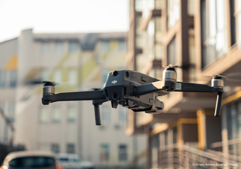 Drohne in der City