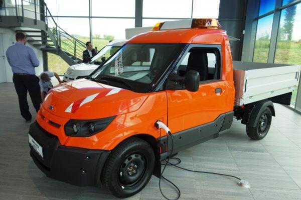 E-Transporter als Symbolbild für Elektromobilität für kleine Unternehmen