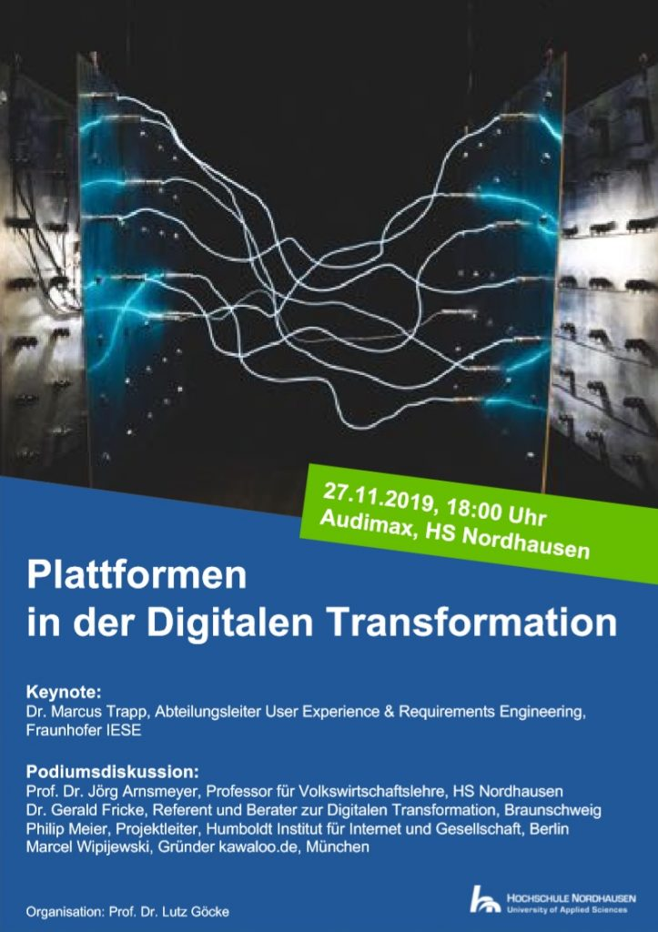 Plattformen der Digitalen Transformation Flyer